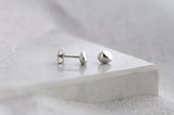 PEBBLE EARRINGS - STERLING SILVER