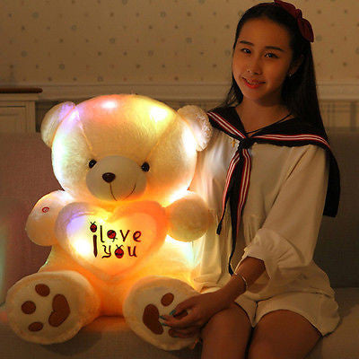 50cm Lovely Soft LED Colorful Glowing Teddy Bear Stuffed Plush Toy