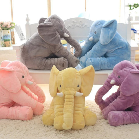 60cm Colorful Giant Elephant Stuffed Animal Toy Animal Shape Pillow Baby Toys Home Decor - Plush Toys Center