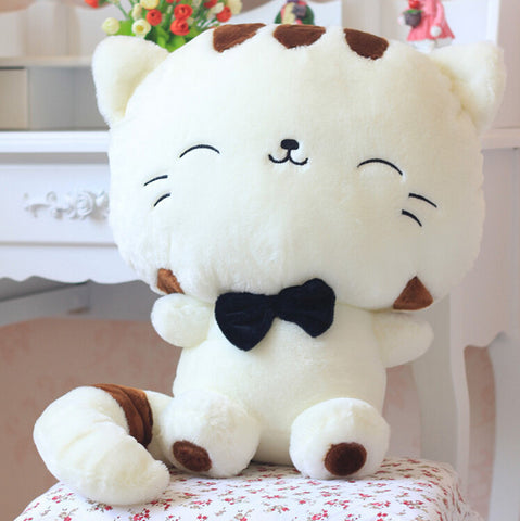 45CM Include Tail Cute large face cat Plush Stuffed Toys