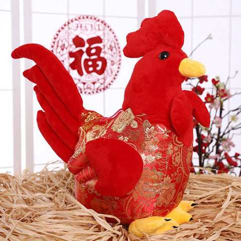 Cartoon Chicken Cock Rooster Soft Plush Doll