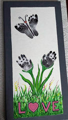 baby keepsake hands and feet