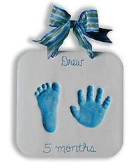 baby keepsake clay plaque