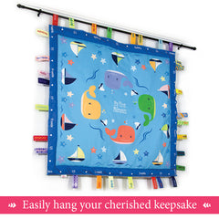 Happy Whales hanging keepsake blanket