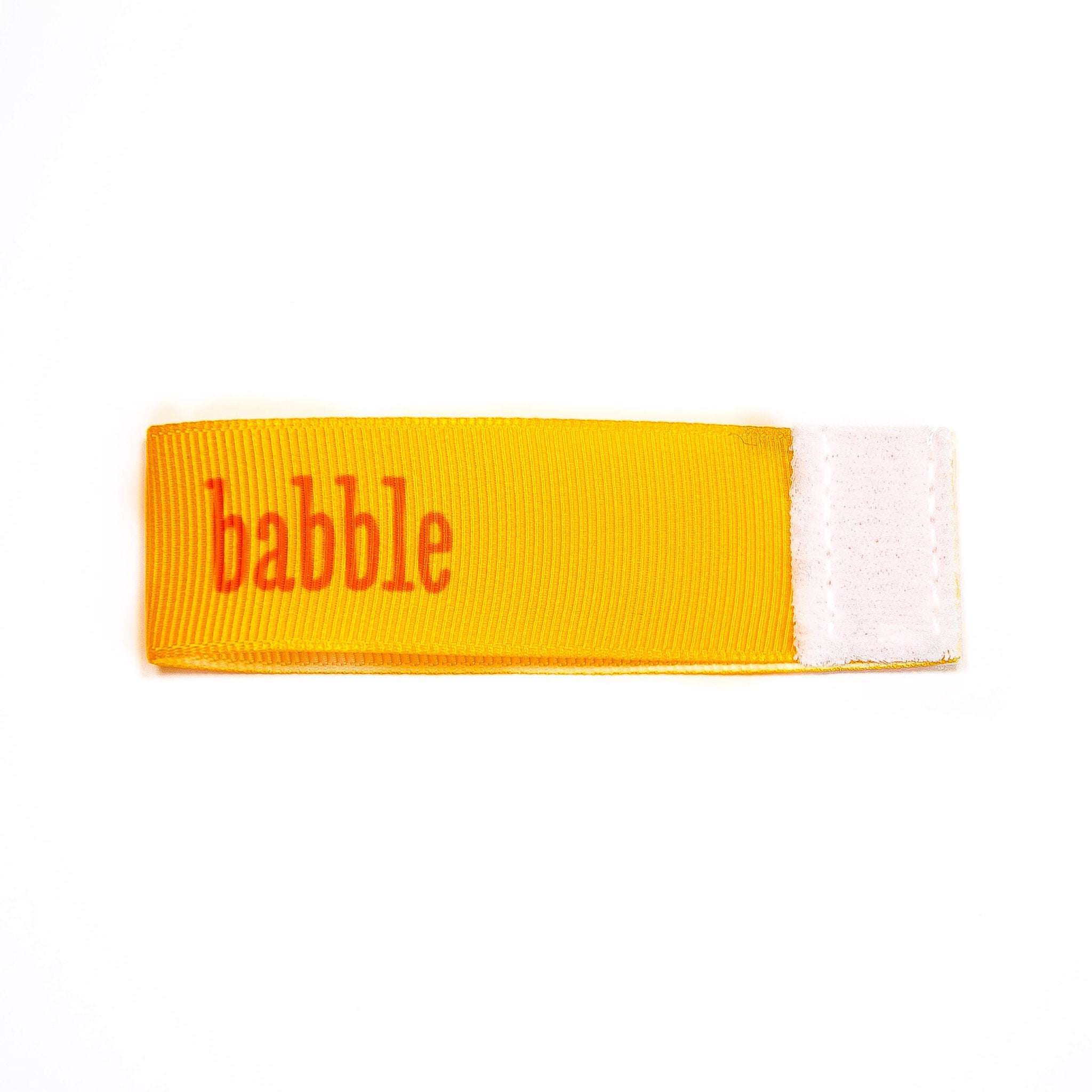 babble Wee Charm ribbon orange