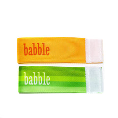 Wee Charm babble milestone ribbon for Baby Charm Blanket