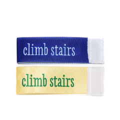 Wee Charm climb stairs milestone ribbon for Baby Charm Blanket