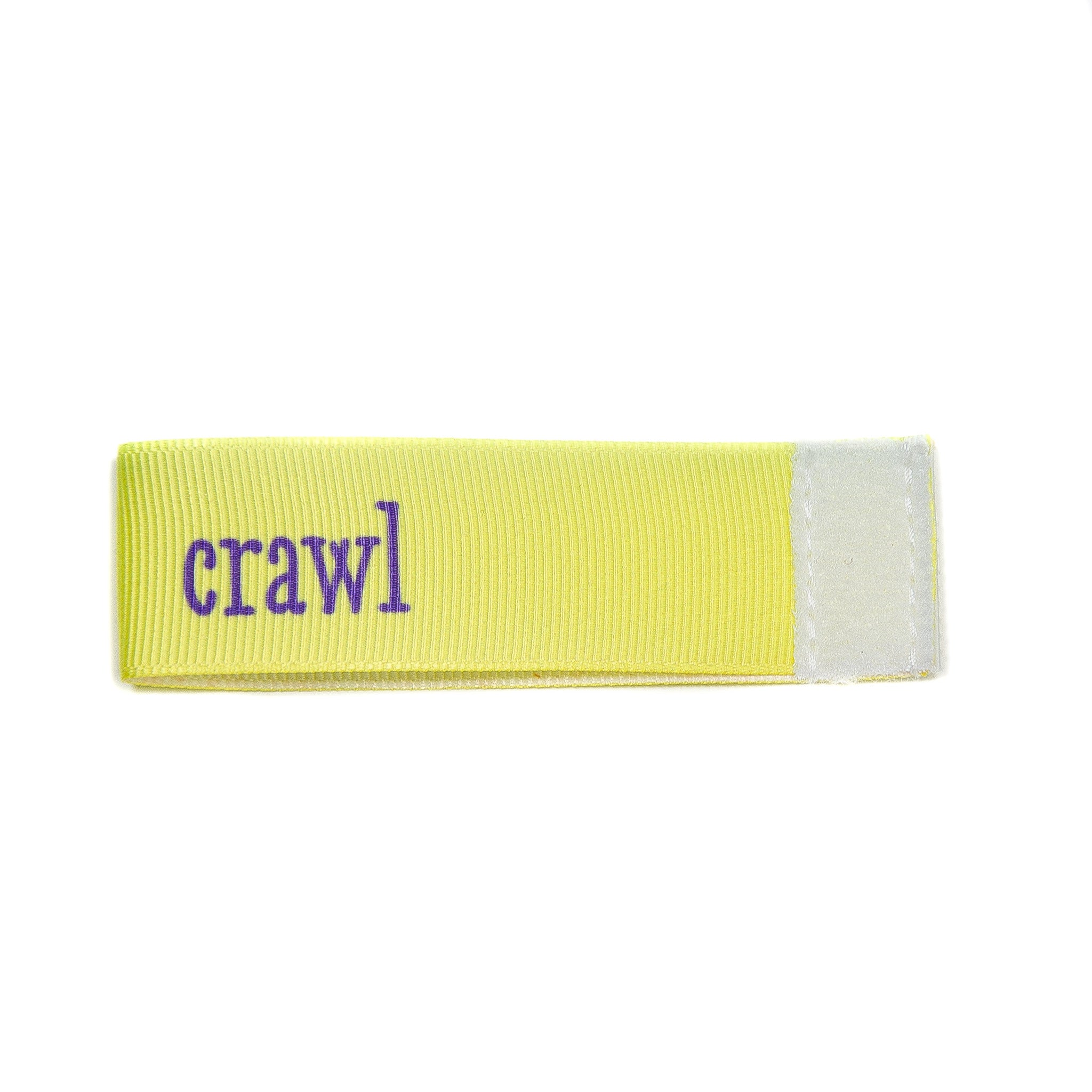 crawl Wee Charm ribbon yellow