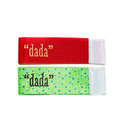 Wee Charm dada milestone ribbon for Baby Charm Blanket