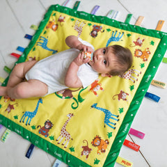 Sunny Jungle Baby Charm Blanket keepsake
