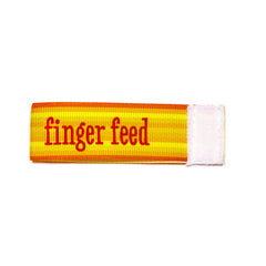 finger feed Wee Charm ribbon orange