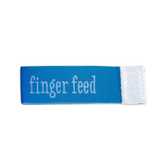 finger feed Wee Charm ribbon blue