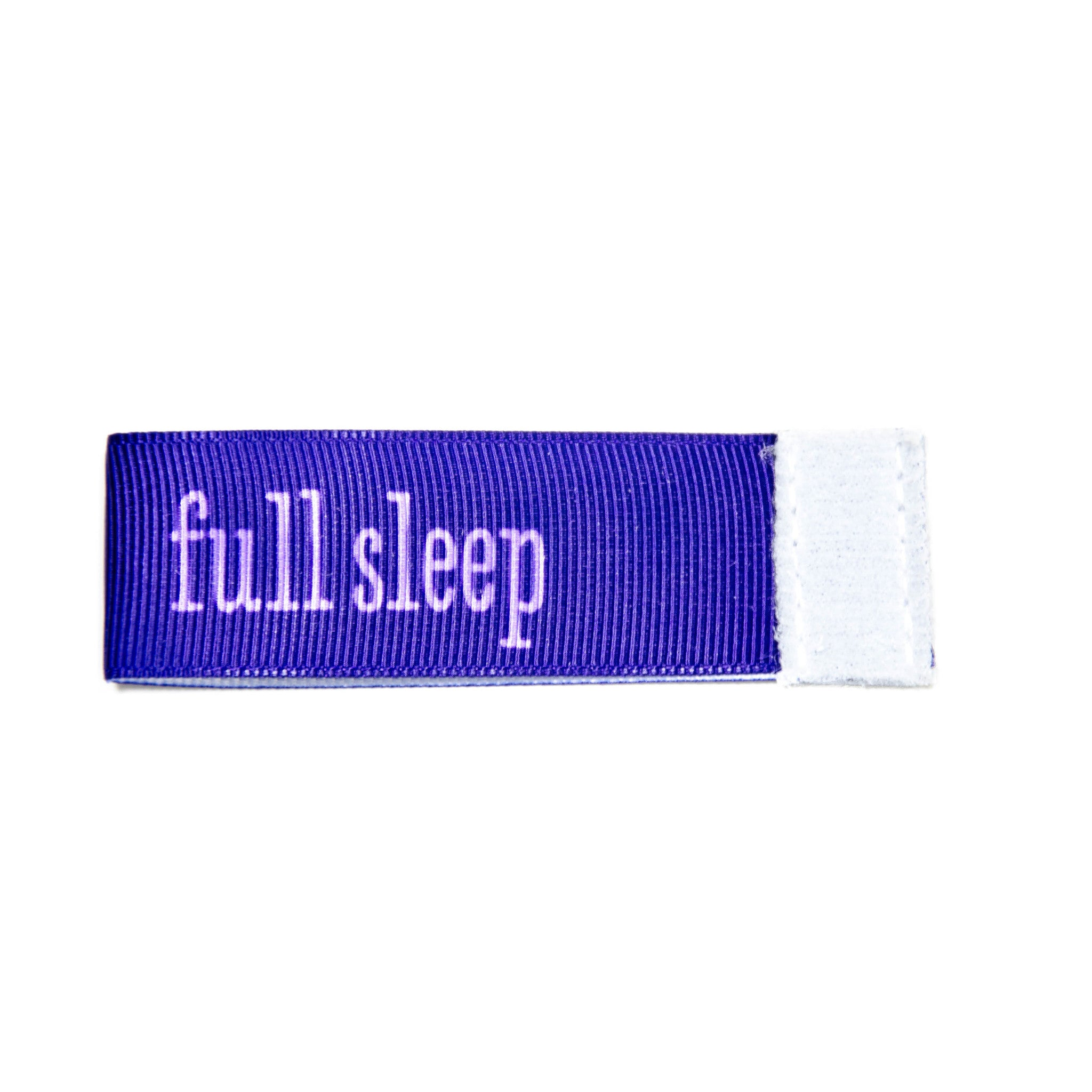 full sleep Wee Charm ribbon blue