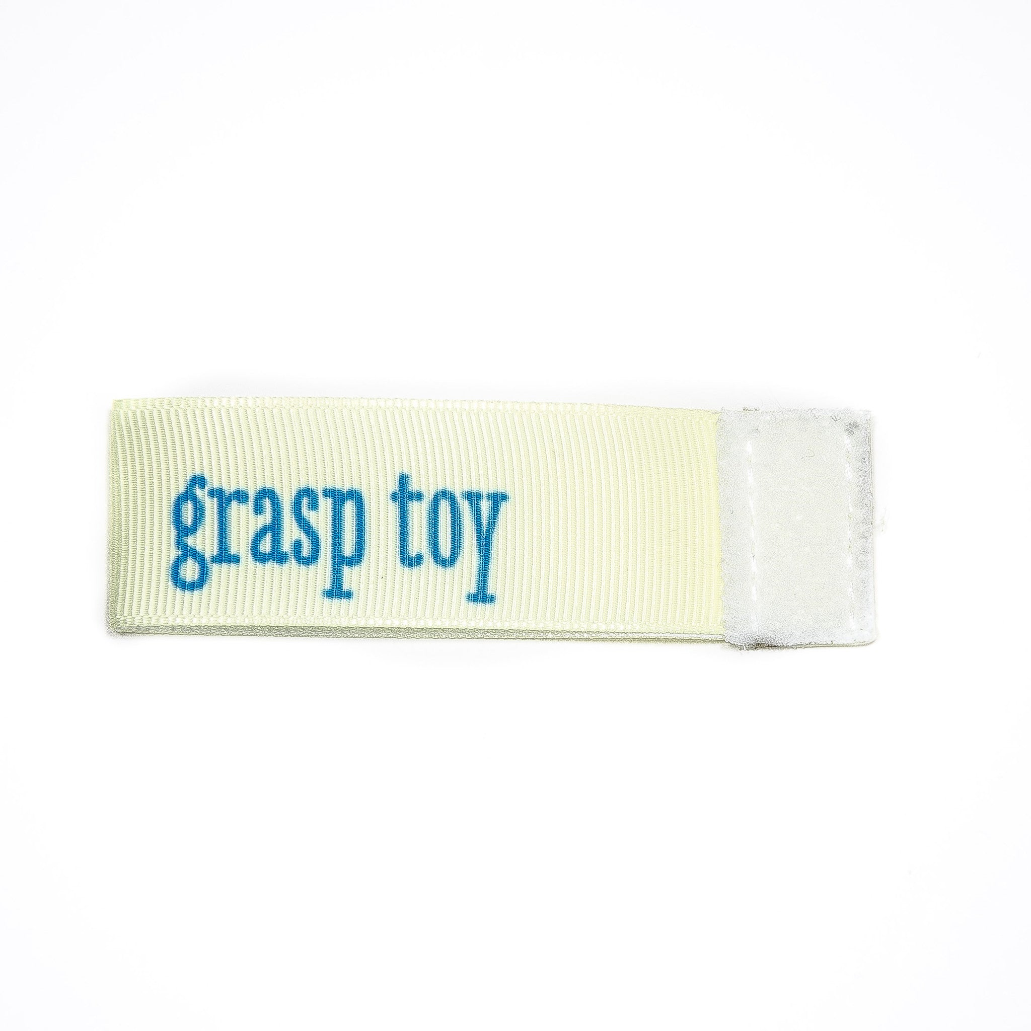 grasp toy Wee Charm ribbon white