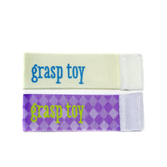 Wee Charm grasp toy milestone ribbon for Baby Charm Blanket