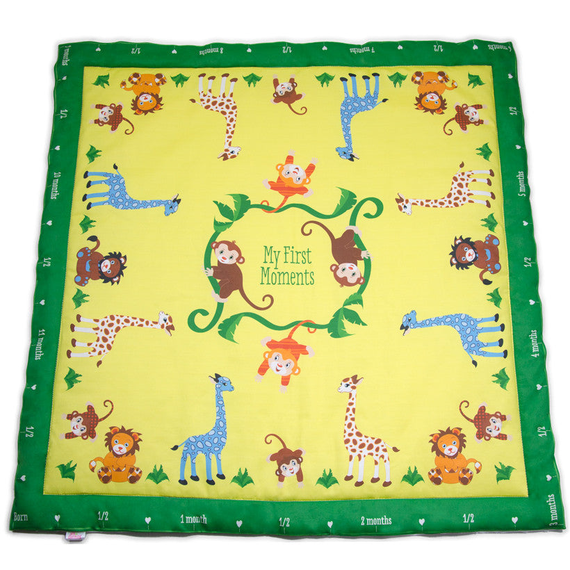 Sunny Jungle Baby Charm Blanket