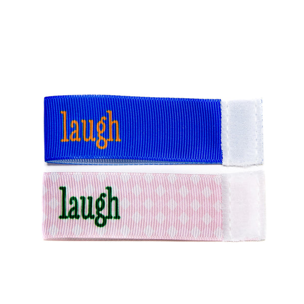 Wee Charm laugh milestone ribbon for Baby Charm Blanket