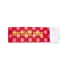 overnight away Wee Charm ribbon red