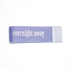 overnight away Wee Charm ribbon purple