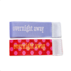 Wee Charm overnight away milestone ribbon for Baby Charm Blanket