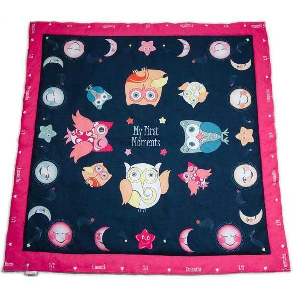 Bedtime Owls Baby Charm Blanket