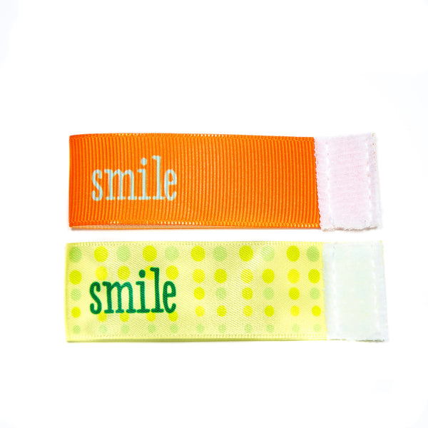 Wee Charm smile milestone ribbon for Baby Charm Blanket