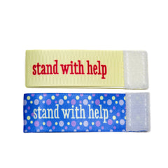 Wee Charm stand with help milestone ribbon for Baby Charm Blanket