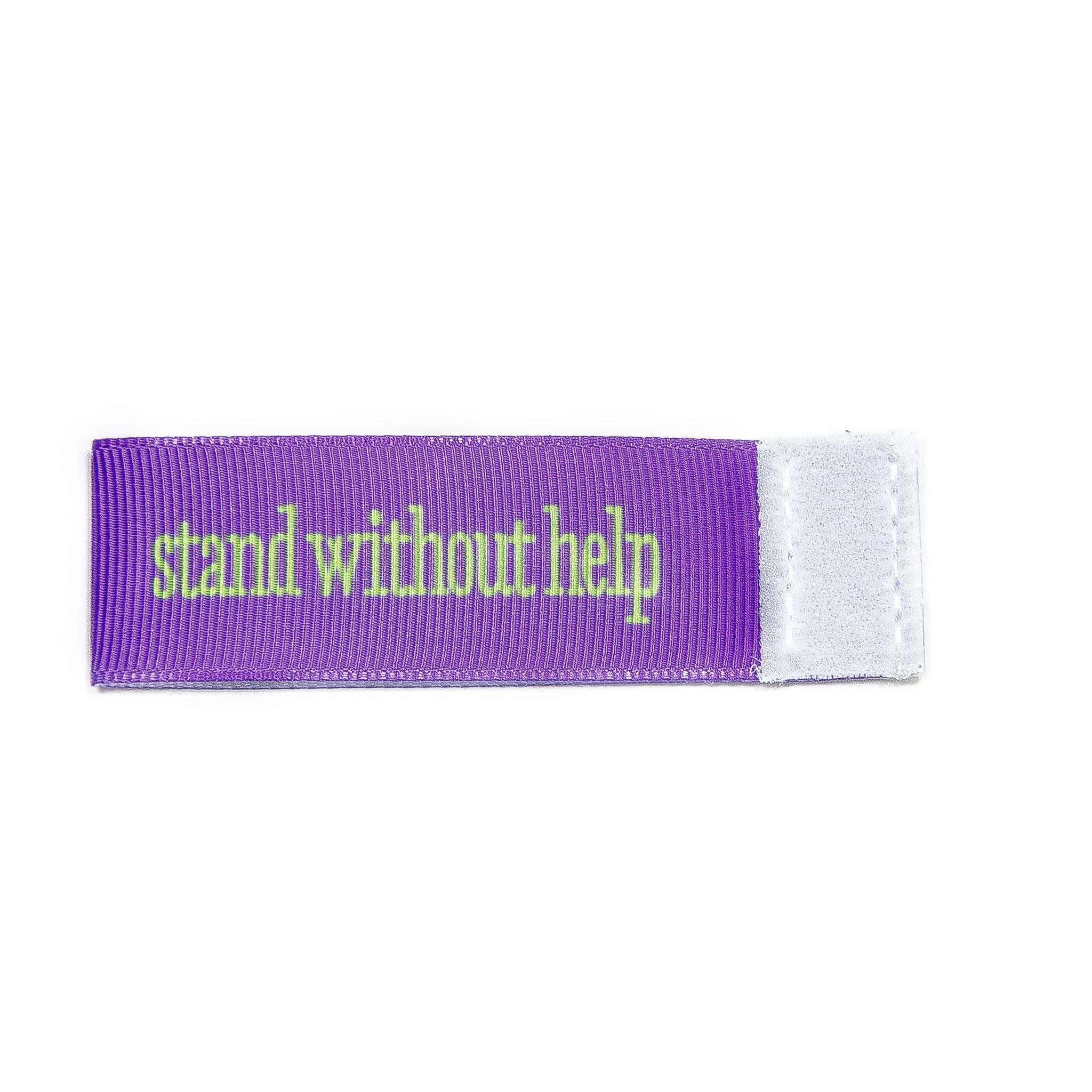 stand without help Wee Charm ribbon purple