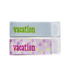 Wee Charm vacation milestone ribbon for Baby Charm Blanket