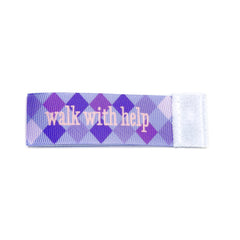 walk with help Wee Charm ribbon purple