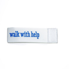 walk with help Wee Charm ribbon white