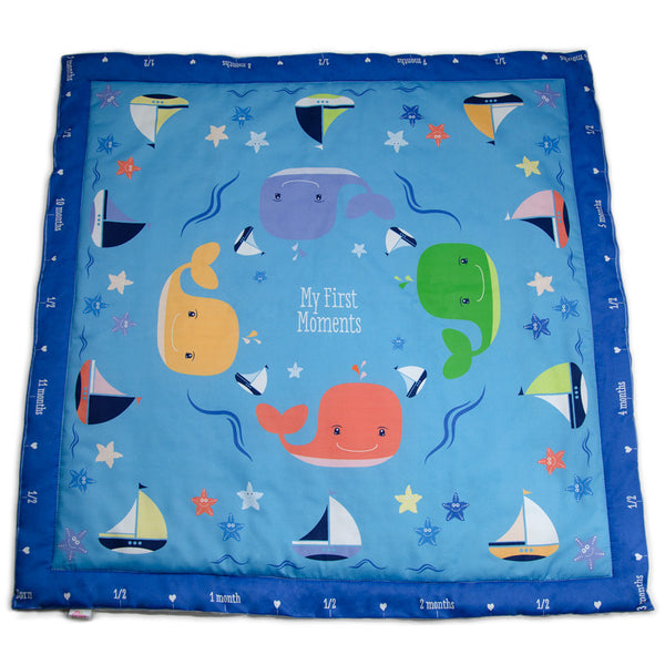 whale baby blanket