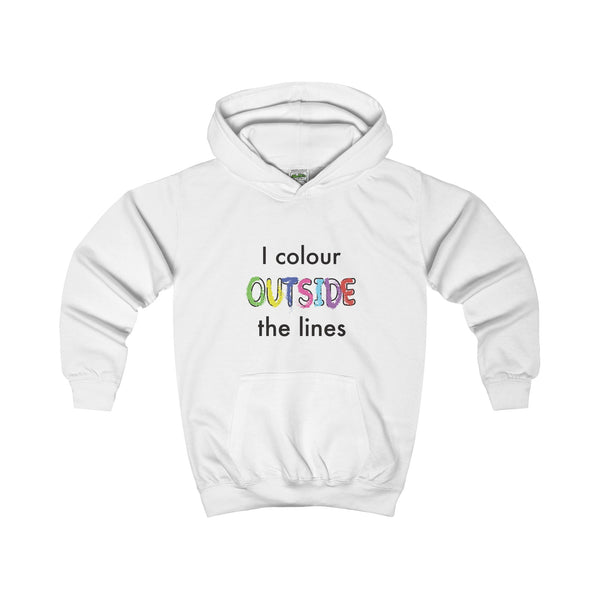 Colour Outside The Lines. Kid's Hoodie - Smash Tees
