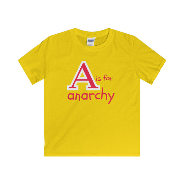 A is for Anarchy... Youth's Unisex Short Sleeve Tshirt - Smash Tees
