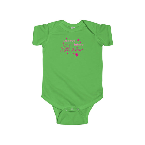 Daddy's Future President (US).  Baby's Unisex Short Sleeve Onesie - Smash Tees