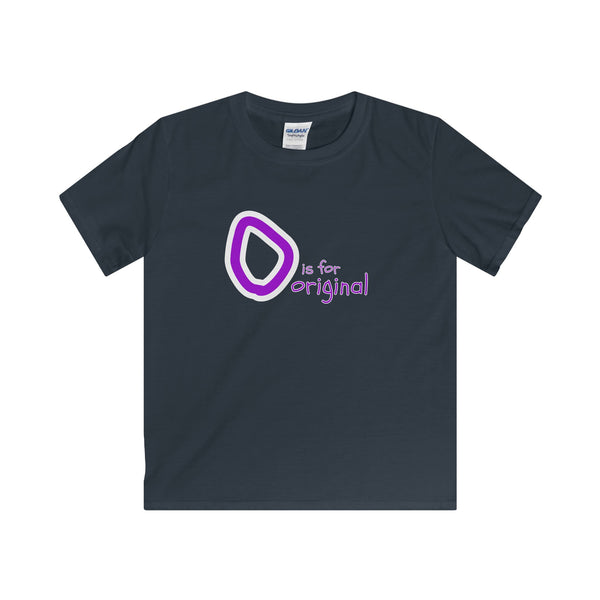 O is for Original. Youth's Unisex Short Sleeve Tshirt - Smash Tees