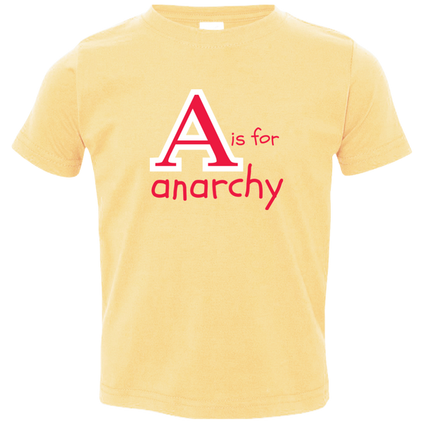 A is for Anarchy. Kid's Unisex Short Sleeve Tshirt