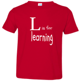 L is for Learning. Kid's Unisex Short Sleeve Tshirt