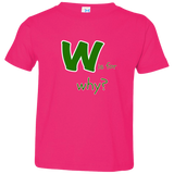 W is for Why. Kid's Unisex Short Sleeve Tshirt