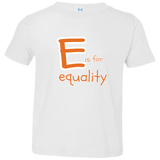 E is for Equality. Kid's Unisex Short Sleeve Tshirt