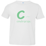 C is for Contrarian. Kid's Unisex Short Sleeve Tshirt