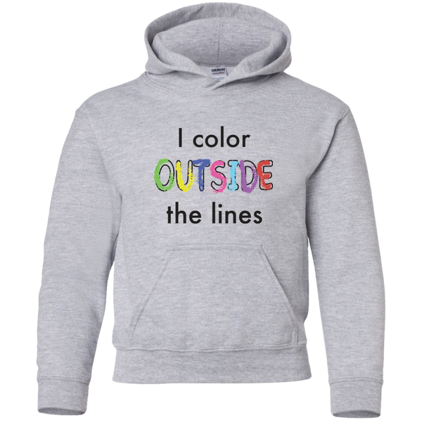 I Color Outside The Lines (US). Kids Hoodie