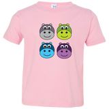 Heaps of Hippos. Kid's Unisex Short Sleeve Tshirt