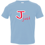 J is for Just. Kid's Unisex Short Sleeve Tshirt