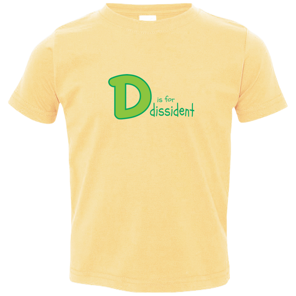 D is for Dissident. Kid's Unisex Short Sleeve Tshirt