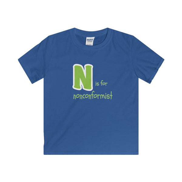 N is for Nonconformist.  Youth's Unisex Short Sleeve Tshirt - Smash Tees