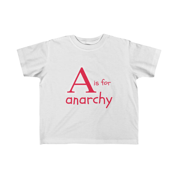 A is for Anarchy... Kid's Unisex Short Sleeve Tshirt