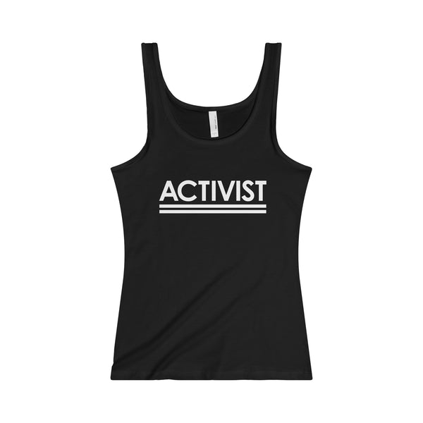 Activist.  Women's Junior Fit Singlet - Smash Tees