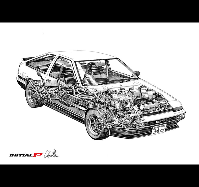 AE86 Perspective illustration