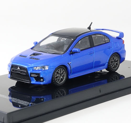 Tarmac Works 1/64 Mitsubishi Evo X Final Edition - Octane Blue